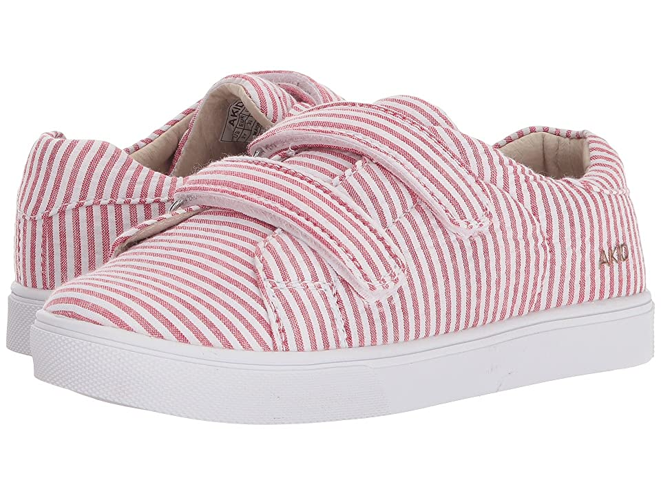 AKID Brand Axel (Toddler/Little Kid/Big Kid) (Pink/White) Girls Shoes