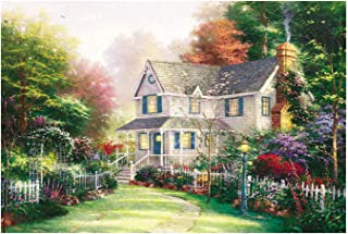 1000 Pieces Jigsaw Puzzles for Adults - England Cottage Jigsaw Puzzles Romantic Lanscape Painting Jigsaw Puzzles Parents & Kids Home Interesting Toys Game