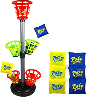 Toysery Bean Bag Toss Game - Excellent Indoor or Outdoor Game - Adjustable Height Materials - Develop Hand-Eye Coordination - Fun for The Whole Family