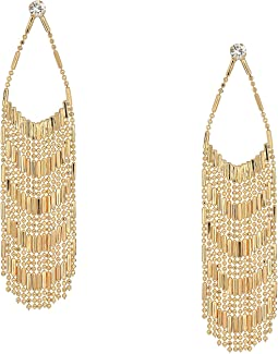 Long Fringe Chandelier Earrings