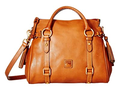 Dooney & Bourke Florentine Small Satchel (Natural/Natural Trim) Handbags