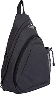 Rustic Town Sling Bag - Crossbody Backpack Shoulder Chest Bag for Men and Women