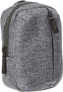 AmazonBasics – Funda para cámara con bolsillo frontal con cremallera de poliéster de calidad impermeable gris ceniza