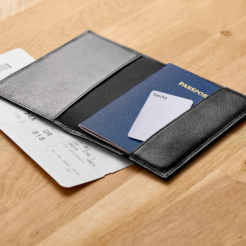 Trecky portafoglio, borsa. Carta connessa per trovare i tuoi oggetti Bianca