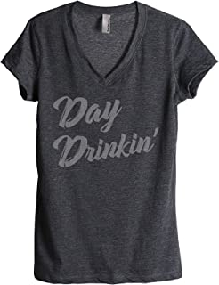 Thread Tank Day Drinkin Drinking Women's Relaxed V-Neck T-Shirt Tee