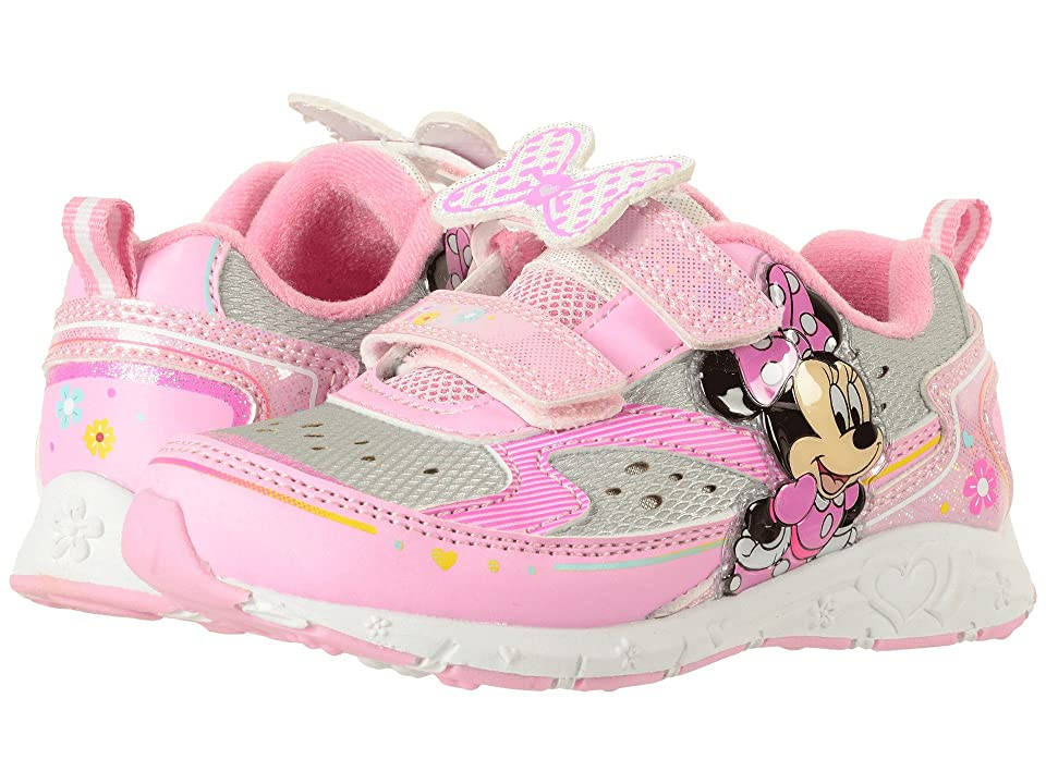 Josmo Kids Minnie Double HL Lighted Sneaker (Toddler/Little Kid) (White/Pink) Girl