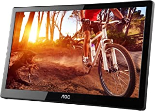 AOC e1659Fwu 16-Inch Ultra Slim 1366x768 Res 200 cd/m2 Brightness USB 3.0-Powered Portable LED Monitor w/Case