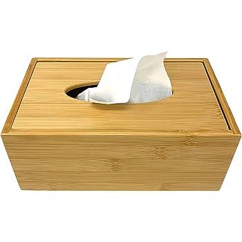 CW/_ CW/_ Wooden Tissue Box Paper Napkin Holder Dispenser Case Bathroom Office Des