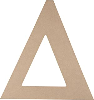 Wooden Greek Letter - Unfinished Wood Letter Delta, Paintable Greek Font for DIY, Home, College, Sorority, Fraternity Decoration, 11 x 11.56 x 0.25 inches