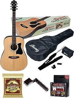 Ibanez IJV50 JamPack 6-String Acoustic Guitar Pack with Bag, Tuner, Pics, Extra Strings, String Winder and Wonder Wipes Bundle