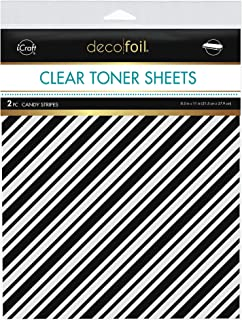"""Deco Foil Clear Toner Sheets 8.5""""x 11"""" 2 Pack - Candy Stripes"""