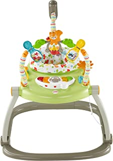 Fisher-Price SpaceSaver Jumperoo, Saltador compacto Woodland Friends, Amigos del bosque (Woodland Friends)