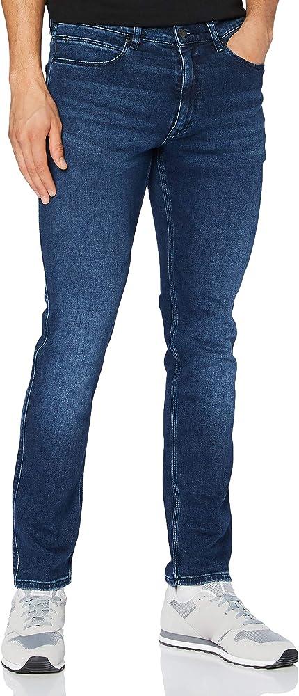 Hugo boss, jeans per uomo,cotone ed elastan 50430981