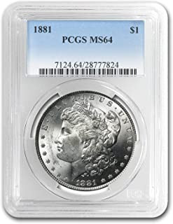 1881 Morgan Dollar MS-64 PCGS $1 MS-64 PCGS