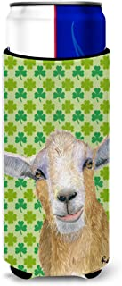 St Patrick's Day Goat Ultra Beverage Insulators for slim cans