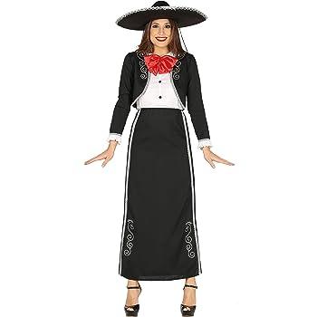 Disfraz de Catrina Mariachi largo: Amazon.es: Ropa y accesorios