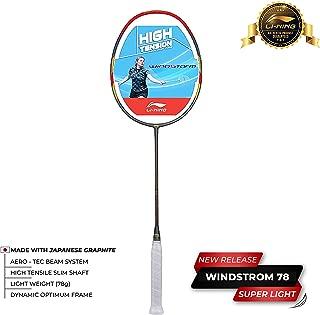 Li-Ning Windstorm-78 Carbon-Fiber Racquet (Dark Grey/Red)