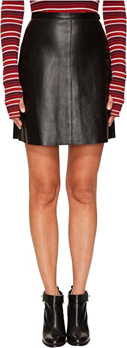 Sonia Rykiel - Thin Lamb Leather Skirt