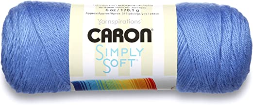Caron Simply Soft Brites Yarn, 6 oz, Berry Blue, 1 Ball