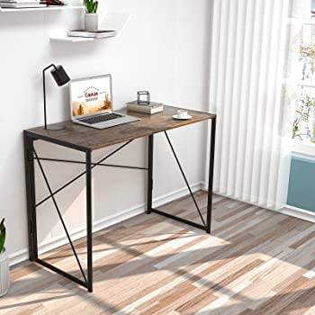 """Coavas Folding Desk No Assembly Required, 40"""" Writing Computer Desk Space Saving Foldable Table Simple Home Office De..."""
