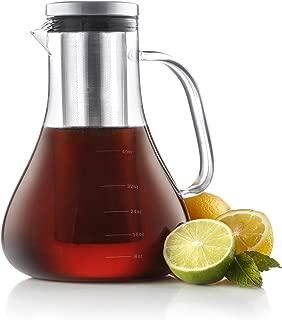 JoyJolt Infuso Cold brew Iced Coffee Maker, Glass Tea Maker 1.5 Liter-48 oz