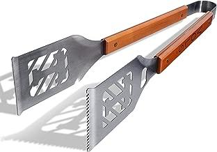 منتجات sportula 7019895Notre Dame Fighting Irish كلاسيكية sportula grill-a-tongs فيه أداة الشواء ، مع إطار فضي, Metallic