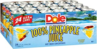 Dole« 100% Pineapple Juice - 24 Cans - 8.4 Oz. Each