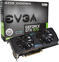 EVGA GeForce GTX 970 4GB FTW GAMING ACX 2.0, 26% Cooler and 36% Quieter Cooling Graphics Card 04G-P4-2978-KR (Renewed)