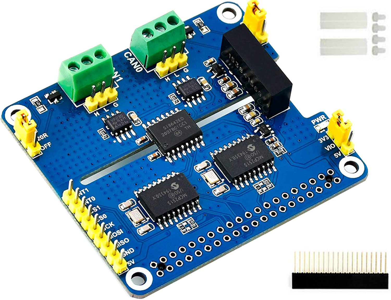 2-Channel Isolated CAN Bus Expansion HAT Pi 2021 autumn and winter new 3B+ for 4B Raspberry service