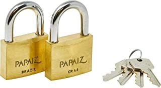 Cadeado Twin Pack, Papaiz, CR45, Latão