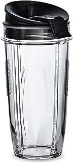 Nutri Ninja 24-Ounce BPA-Free Tritan Cup with Spout Lid for Nutri Ninja Blenders (XSK2424), 2-Pack (Renewed)
