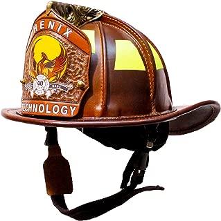 Phenix TL-2 Natural Leather Firefighting Helmet: Ratchet Suspension