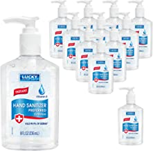 Lucky Super Soft Hand Sanitizer Gel, 8 oz Hand Sanitizer Gel with Alcohol, Hand Sanitizer with Pump, Antibacterial Gel San...