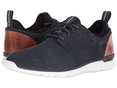 Johnston & Murphy Waterproof Prentiss XC4(R) Casual Dress Plain Toe Sneaker (Navy Waterproof Tumbled Nubuck) Men