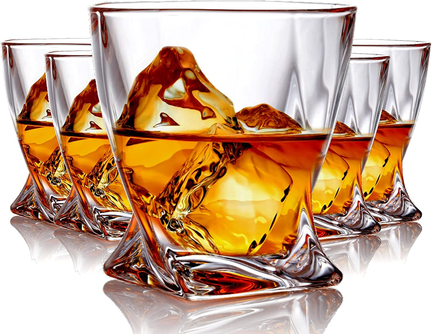 Whiskey Glasses set of Free Ranking TOP10 shipping 6 Crystal Fashioned Old Rock Glass Scotch