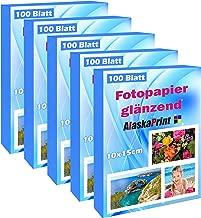 500 Blatt fotopapier 10x15 hoch glänzend tintenstrahldrucker 240g/m² Photopapier Fotokarten Photokarten Sofort Trocken Wasserfest Hochweiß