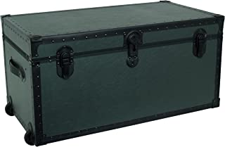 Seward Trunk Garrison Oversized Footlocker Trunk, Olive Drab Green, 31-inch (SWD5531-31)