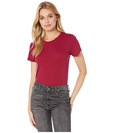 Hurley Solid Perfect Crew T-Shirt Short Sleeve (Noble Red) Women