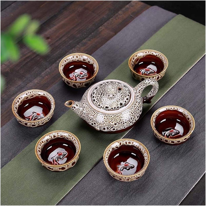 7pcs Tea Sets Exquisite Celadon Set Super sale period limited 1 Pot Super Special SALE held Cups 6 Include
