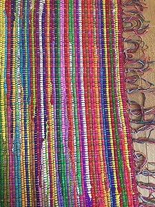 Second Nature Online splendido Filo d' Argento Tappeto Tessuto Piatto Piccolo 60cm x 90cm