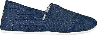 Mens Leather Insole Espadrilles Canvas Slip on Summer Plimsolls Plimsoles Pumps Deck Two Tone Shoes Size