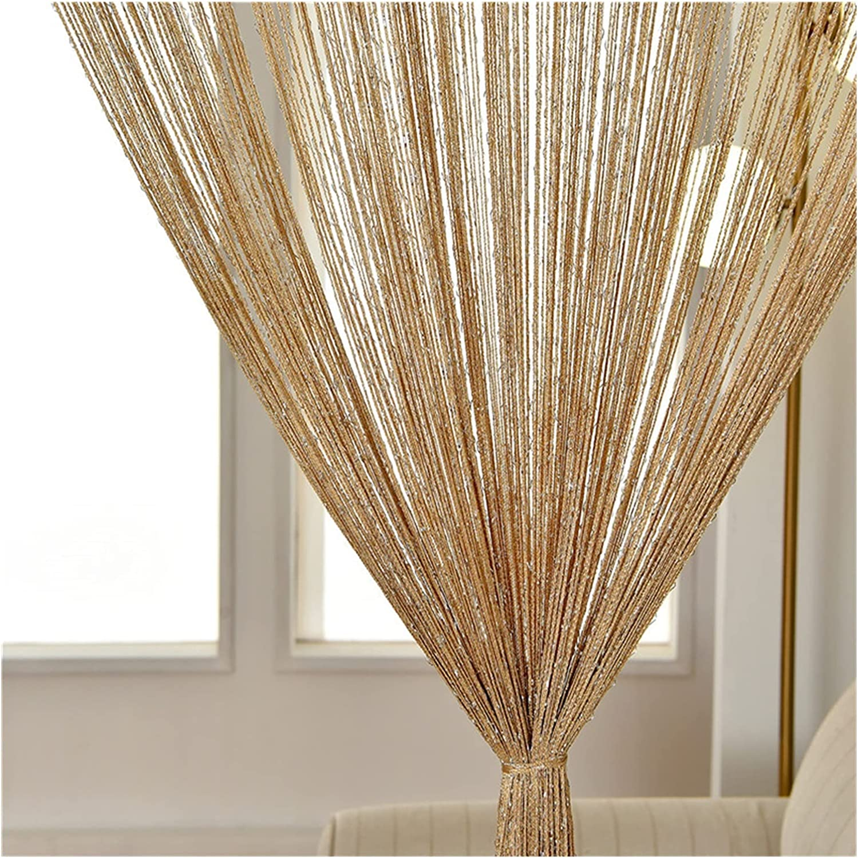 GJHL Curtain 300X260 cm Popular standard String Valance Tassel trust Shiny Line
