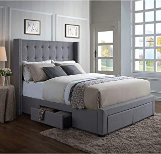 full size bed base with drawers