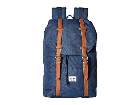 Herschel Supply Co. Retreat Mid-Volume Navy/Tan Synthetic Leather Clearance High Quality Outlet Get Authentic Great Deals Sale Online Wide Range Of Cheap Online 2UdsI13Fj8
