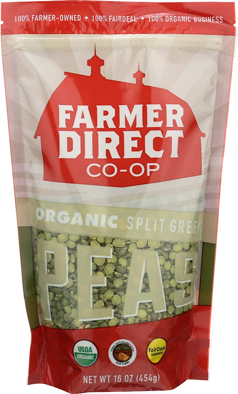 Farmers free Direct Coop Peas Split Sales results No. 1 Green Deal Ounc Organic 16 Fair