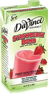 DaVinci Strawberry Bomb Smoothie Mix, 64-Ounce Box (Pack of 6)