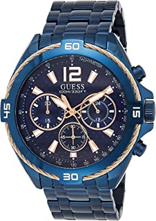 Guess Mens Quartz Watch, Analog Display and Stainless Steel Strap W1258G3