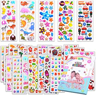 Kids stickers 1200+, 40 different Sheets, 3D Puffy Stickers for Kids, Bulk stickers for Girl Boy Birthday Gift, Scrapbooki...