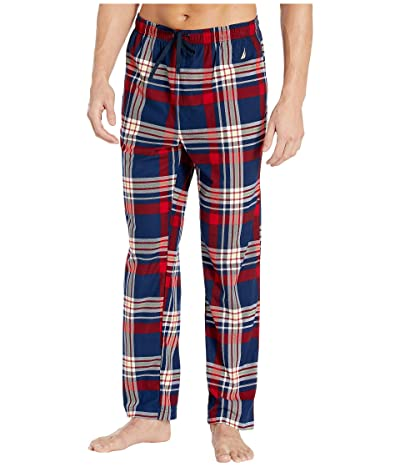 Nautica Plaid Cozy Fleece Pajama Pants (Estate Blue) Men
