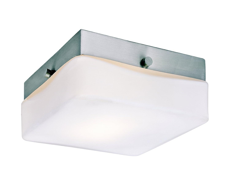 Trans Globe照明led-8870?BN Cuvee Contemporary Flushmount、5.75インチ、インドアつや消しニッケル